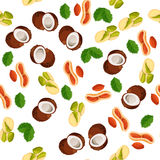 Illustration of nuts Royalty Free Stock Photo