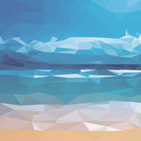 Illustration with ocean and beach Royalty Free Stock Photography