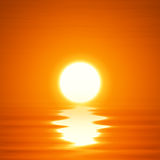 Illustration ocean sunset Stock Photo