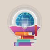 Illustration- och designbegrepp för online-utbildning Royaltyfri Fotografi