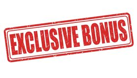 Free Illustration Of A Red Sign Saying \ Exclusive Bonus\  Isolated On A White Background Royalty Free Stock Photo - 183988145