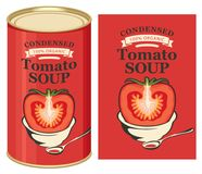 Free Illustration Of A Tin Can With Label Tomato Soup Royalty Free Stock Image - 119395846