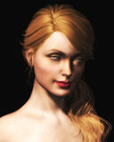 Illustration Of Beautiful Blond Woman Royalty Free Stock Image