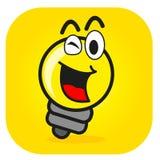 Illustration Of Cartoon Bulb Lamp Stock Images