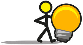 Illustration Of Cartoon Man And Idea Stock Image