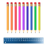 Illustration Of Colored Pencils Royalty Free Stock Images
