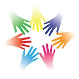 Illustration Of Colorful Hands Held Together Stock Photo