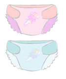 Illustration Of Disposable Diapers Or Diaper Babie Royalty Free Stock Image
