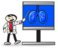 Illustration Of Doctor When Presentation Stock Photo