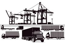 Illustration Of Freight Transport And Forwarding Stock Images