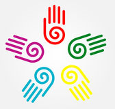 Illustration Of Hand Prints Royalty Free Stock Images