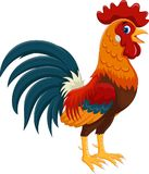 Illustration Of Happy Rooster Cartoon Royalty Free Stock Images