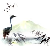 Illustration Of Heron Stock Photo