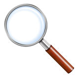 Illustration Of Magnifying Glass Stock Photography