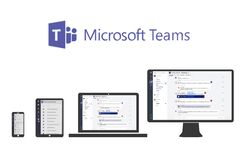Free Illustration Of Microsoft Teams On Different Devices Royalty Free Stock Photos - 187290588