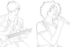 Illustration Of Musicians Stock Photo