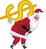Illustration Of Santa Claus In Various Poses Dolla Royalty Free Stock Images
