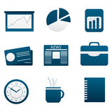 Illustration Of Set Of Different Business Icon Stock Photography