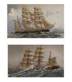 Illustration Of Ships 19-18 Century. Royalty Free Stock Photo