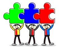 Illustration Of Teamwork Businessman Royalty Free Stock Images