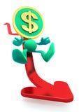 Illustration Of The Falling Dollar Royalty Free Stock Photo