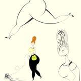 Illustration Of Woman Stock Photos