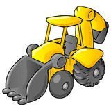 Illustration Of Yellow Tractor Royalty Free Stock Images