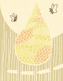 Illustration ofan Abstract Bee Hive. Vector illustration of an abstract bee hive vector illustration