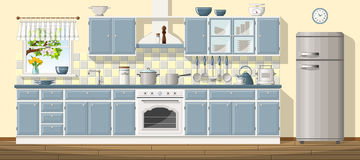 Illustration ofclassic kitchen Stock Photography
