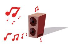 Illustration off the acoustic system Stock Photography