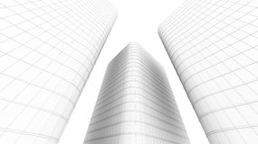 Illustration of office building Royalty Free Stock Photos