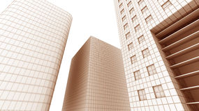 Illustration of office building Stock Images