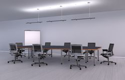 Illustration office room Royalty Free Stock Photography