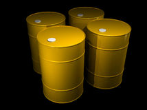 Illustration of a oil barrels Stock Image