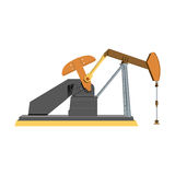 Illustration of the oil industry, oil pump Royalty Free Stock Image