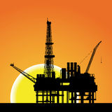 Illustration of oil platform on sea   Stock Photos