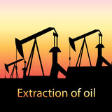 Illustration of oil production Stock Image