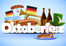 Illustration of Oktoberfest wallpaper holiday background Royalty Free Stock Photos