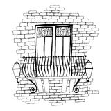 Illustration of old brick wall Stock Image