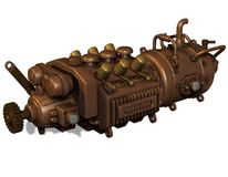 Illustration of an old engine Stock Images