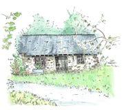 Illustration old house Stock Photo