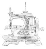 Illustration of old sewing machine Stock Photography