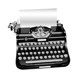 Vector illustration of old style isolated typewriter Royalty Free Stock Images