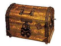 Illustration an old treasure chest Royalty Free Stock Image