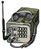 Illustration of old war time radio Royalty Free Stock Image