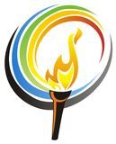 An illustration of olympic torch Stock Photo