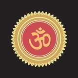 Illustration of Om in a crowne royalty free stock photo