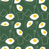 Illustration - omelettmodell stock illustrationer