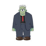 Illustration: The One Eyed Monster Killer  on White Background. Realistic Fantastic Cartoon Style Character / Monster Design Stock Photography