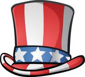 Illustration Onkel-Sam Top Hat American Cartoon Lizenzfreies Stockfoto